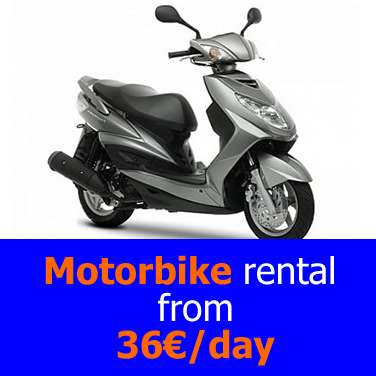 Motorbike rental from 20 euros per day