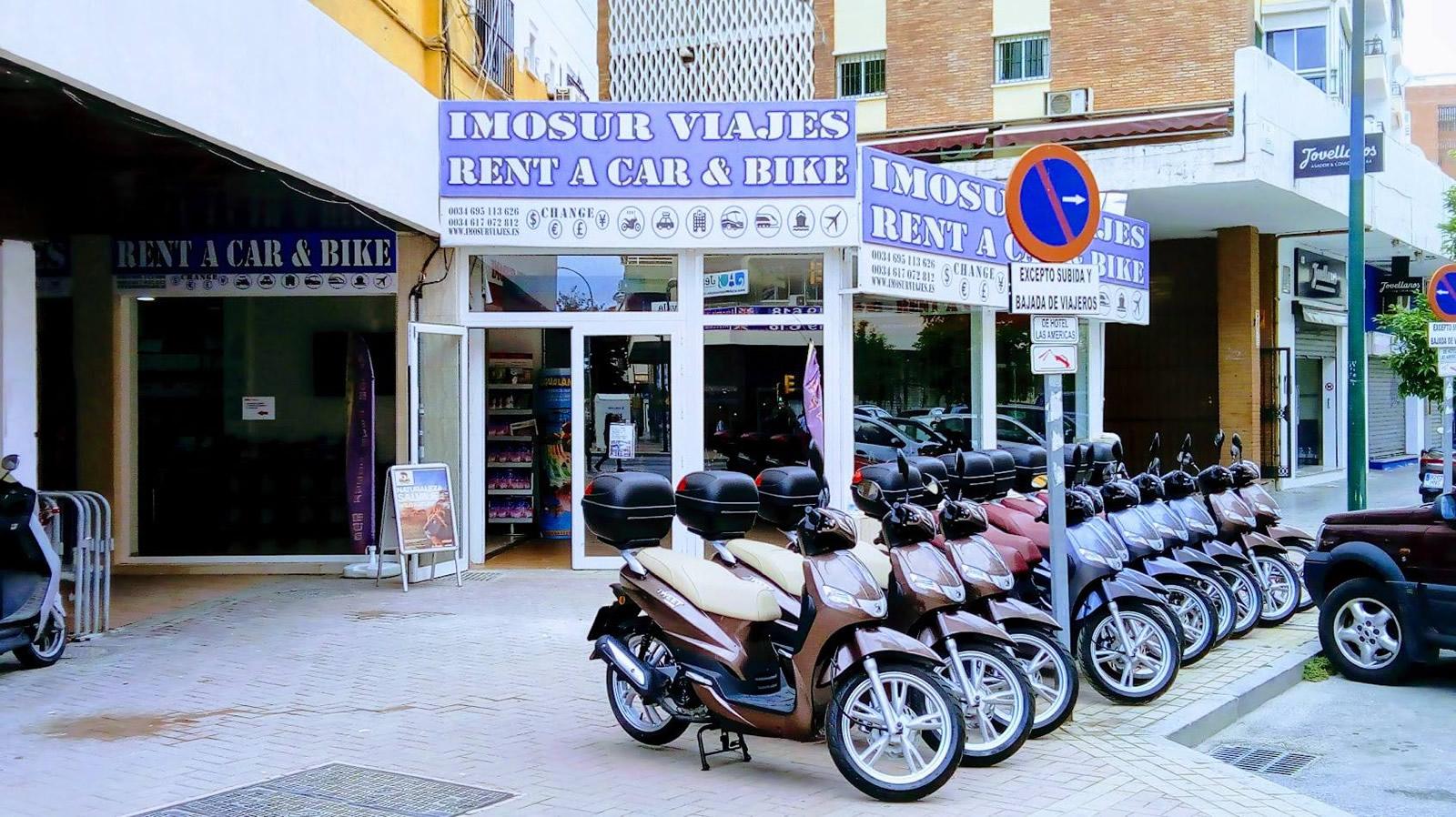Oficina Alquiler coches Motos furgonetas Málaga